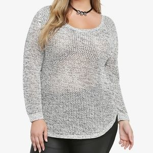 Torrid Marled Open Stitch Tunic Sweater